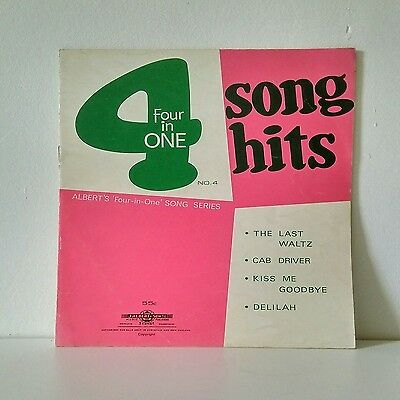 Four in One Song Series Music Sheets Number 4- 1968 Vintage