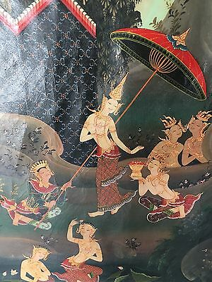 Thai School 20Th Century Painting Teppanom Buddhist Angels At Play