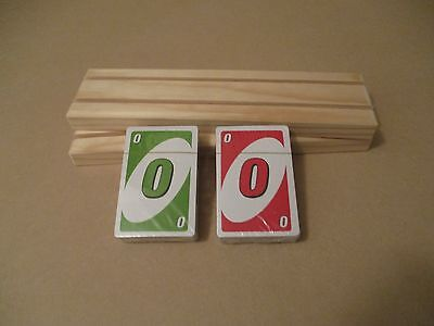 UNO Family fun game,with 2 X 2 Row Playing Card Holders FREE POSTAGE