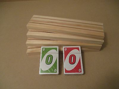 UNO Family fun game, with 4 X 2 row playing card holders FREE POSTAGE