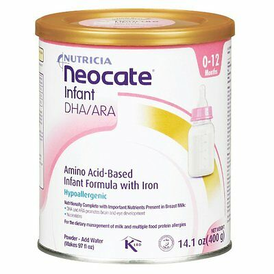 NEOCATE INFANT BABY FORMULA With Dha and Ara, 14.1 Oz / 400 G - FACTORY SEALED