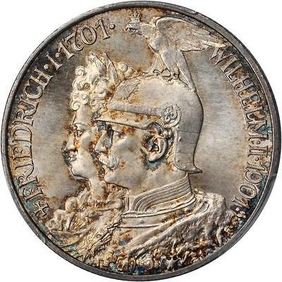 GERMANY. Prussia. 2 Mark, 1901. PCGS MS-66+