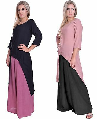 Summer Long Palazzo Style Wide Leg Trousers Pants Cotton Maternity Suitable