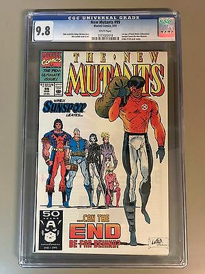 Marvel New Mutants 99 CGC 9.8 White Pages 1st Feral