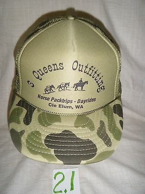 3 Queens Outfitting Horse Pack Trips Cle Elum, WA   Baseball Hat Cap