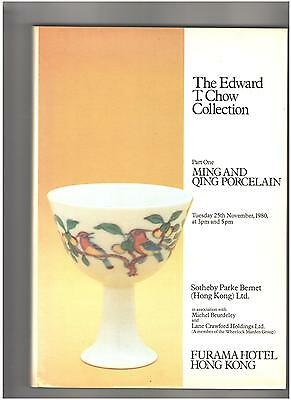 Sotheby's Catalog, Hardcover, Chinese Ceramics, Edward T Chow Collection Part I