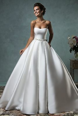 Stock New White/Ivory Wedding Dress Bridal ball Gown Size 6 8 10 12 14 16