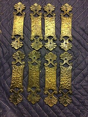 8 ANTIQUE DECORATIVE SOLID BRASS DOOR PUSH Plates Or Hardware