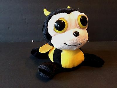 People Pals Bumble Bee Plush Animal Black and Yellow with Wings with Big Eyes