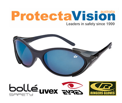Bolle Bandit 2 Blue Flash Lens Safety Glasses Blue Frame CLEARANCE ITEM!