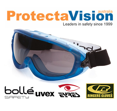 Bolle Atom Platinum Smoke Lens Top Vent Closed Safety Goggles