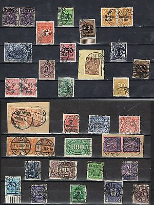 Germany  Page Of H.c.v Used German Expertised Stamps