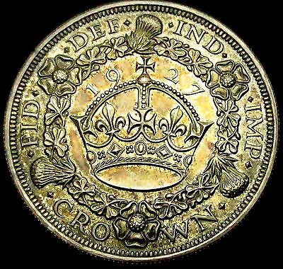 S769: 1927 Silver Proof WREATH CROWN - uncircluated & toned - 15,030 mintage