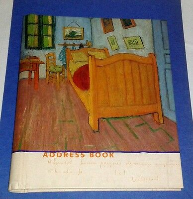 VAN GOGH MUSEUM Illustrated Address Book HB Spiral Bound NEW