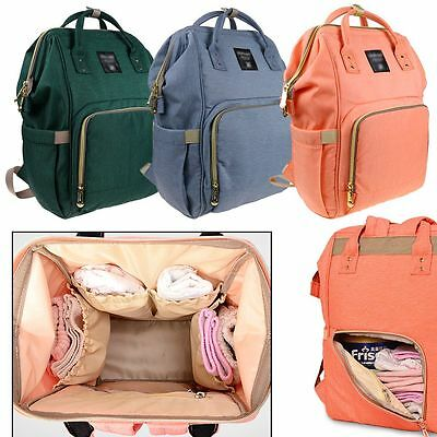 Multifunctional Large Capacity Mummy Nappy Backpack Maternity Baby Diaper Bag