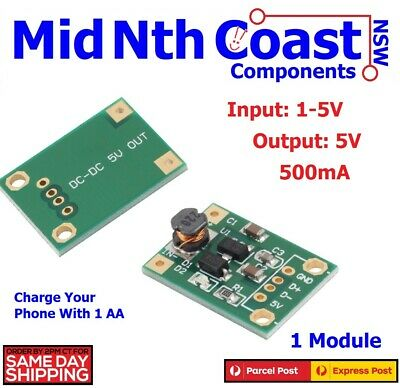 DC-DC Boost Converter Step Up Module 1-5V to 5V 500mA Power Module