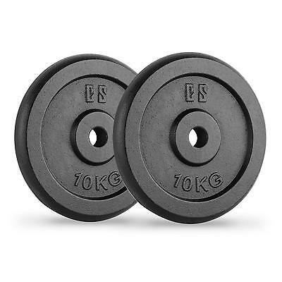 Capital Sports Cast Iron Weight Plates Disc Barbell Dumbells Lifting 2 X 10 Kg