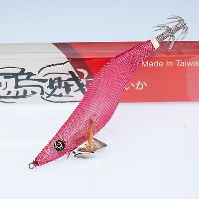 Rui Squid Jig Pink Cloth Silver Turn Gold Clear Body Size 3.5