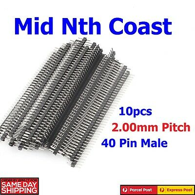 10pcs 40 Pin 2.0mm Single Row Male Header Pins for Prototyping Shields DIY