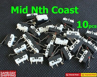 10pcs AC 125V 1A SPDT Subminiature Micro Lever Switch 13x5x10mm
