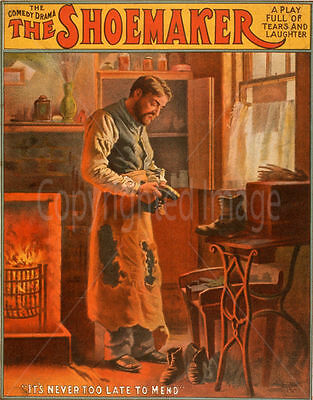 The Shoemaker Comedy Drama  Metal Tin Sign Poster Wall Plaque