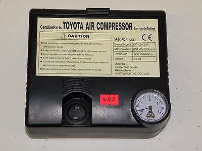 Toyota Verso 2014 Genuine Toyota Air Compressor For Inflating Tyres 1304514506
