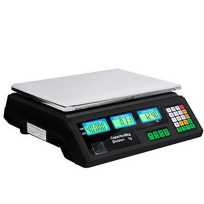 Digital Kitchen Food Scales Electronic Weight Postal Price 40KG Scale Fruit Meat