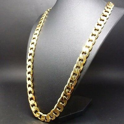 15mm Heavy Curb Link Chain 24k Gold Plated / 24kWhite Gold Plated Necklace