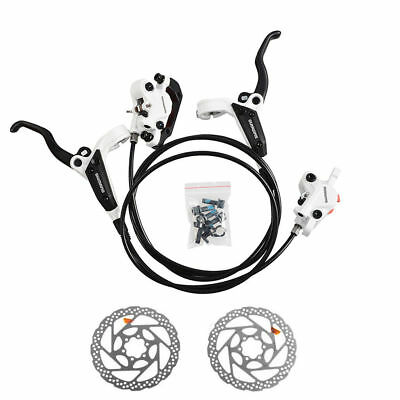 Shimano BR-M446 BL-M445 Hydraulic Disc Brake Front Rear White RT56 160mm Rotors