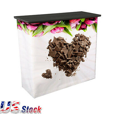 Square Portable Trade Show Counter High Quality - US Stock