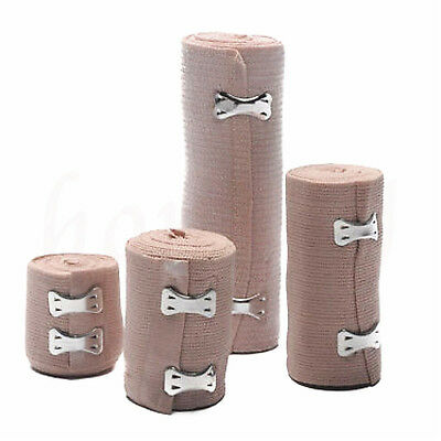 4 Sizes Medical First Aid Wound Care Closure Rubber Elastic Bandage With Clips