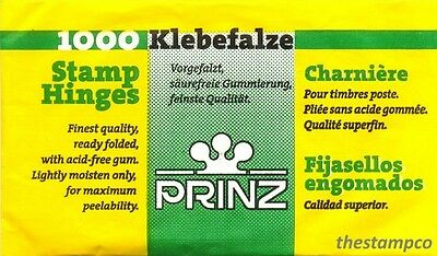 Prinz Stamp Hinges - Ready Folded & Acid Free - Various Quantities - Free P&P