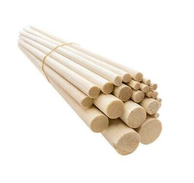 15cm - 150mm Wooden balsa dowels. Arts. Crafts. Models. 5mm 6mm 8mm 10mm - 25mm.