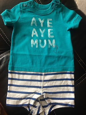 Boys Baby Summer All In One Shorts Age 3-6 Months By Gap