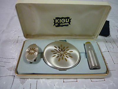 Vintage 'Kigu' Art Deco Style Cased Powder Compact Set