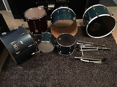 Assorted Drums And Hardware. Evans, Yamaha, Pearl, Remo