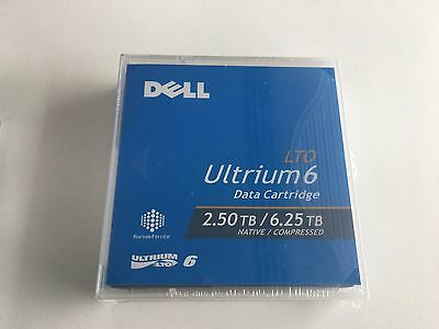 Dell LTO 6 2.5Tb / 6.25Tb Tape Cartridge Sealed and Unused - pack of 4