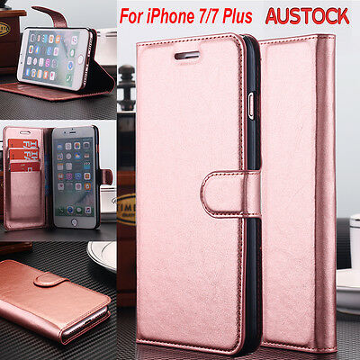 AU Luxury Leather SLIM Wallet Card Flip Stand Case Cover for iPhone 7 & 8 Plus
