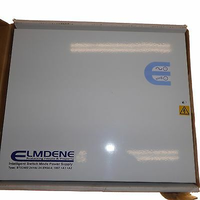 Elmdene PSU 24VDC power supply unit for fire systems intelligent battery charge
