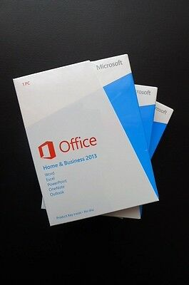 Microsoft Office Home and Business 2013 Word Excel Outlook English T5D-01574 NEW