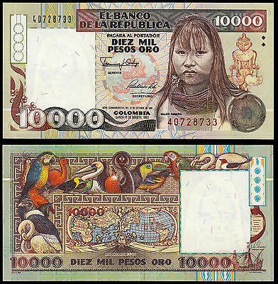Colombia 10000 Pesos (P437) 1992 Commemorative Issue Unc