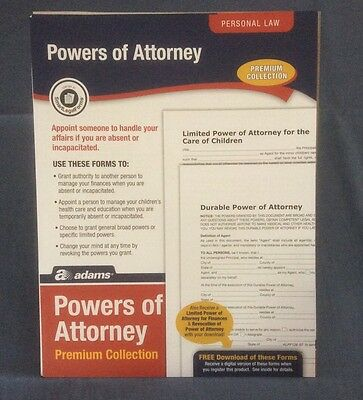 Adams Powers Of Attorney Premium Collection-Alfp126 - Used Once