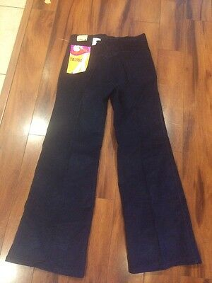 New With Tag 1970s Original Landlubbers Blue Corduroy Bell Bottom Pants Jeans 34