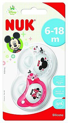 NUK Disney Mickey & Minnie Designed Silicone Orthodontic Soother 2pk 6-18months