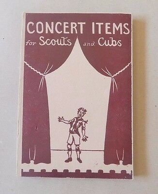 Vintage Book - Concert Items for Scouts and Cubs 1953