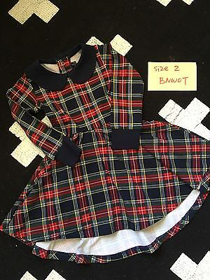 Rock Your Baby Kid Tartan Dress Size 2 BNWOT