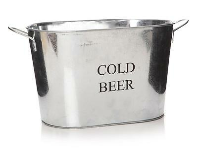 New Galvanised Metal Drinks Cold Beer Wine Bottle Holder Ice Cooler Large Bucket