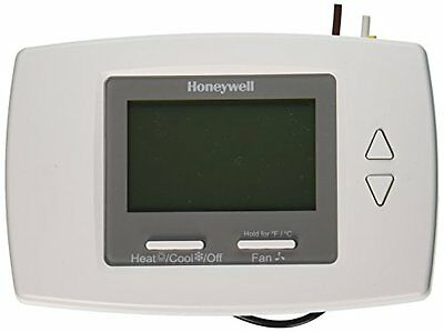 Honeywell Thermostat, CSA Wht LCD 3Speed Digital, Backlit FCC Display Fan Coil