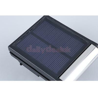 Solar Power Door Fence Wall Light LED Outdoor Garden Shed Lighting Security