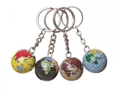 S/4 Mini World Globe Map Of The Earth Atlas Geography Vintage Keyrings Mens Gift